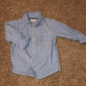 Carter's long sleeve blue stripe shirt. Worn 2x